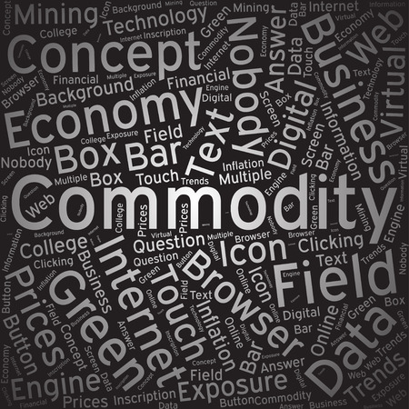 commodity: Commodity, Word cloud art background