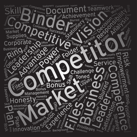 competitor: Competitor, Word cloud art background Illustration