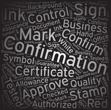 confirmation: Confirmation, Word cloud art background
