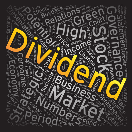dividend: Dividend, Word cloud art background