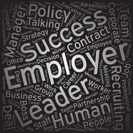 employer: Employer, Word cloud art background