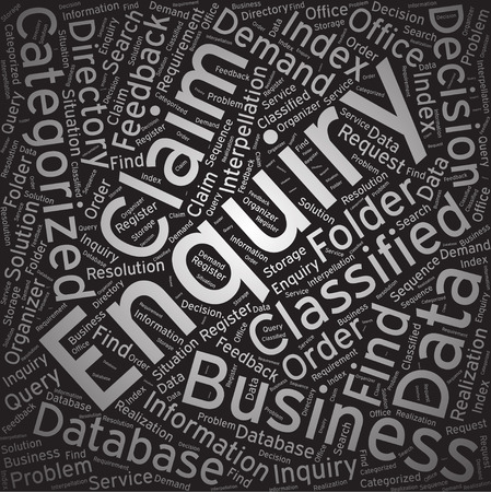 enquiry: Enquiry, Word cloud art background
