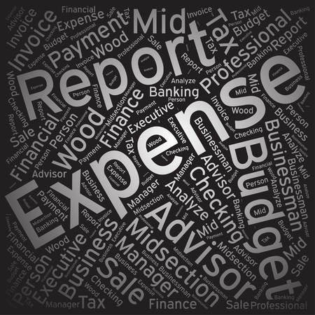 expense: Expense ,Word cloud art background