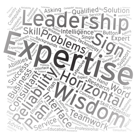 expertise: Expertise ,Word cloud art background Illustration