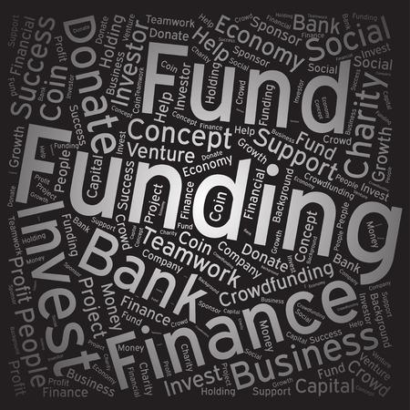 Funding ,Word cloud art background