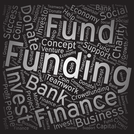 Funding ,Word cloud art background