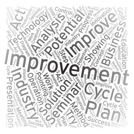 growth enhancement: Improvement ,Word cloud art background Illustration