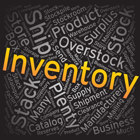 Inventory ,Word cloud art background