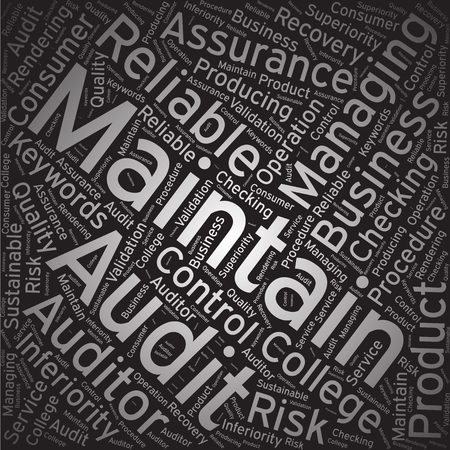 Maintain ,Word cloud art background Illustration