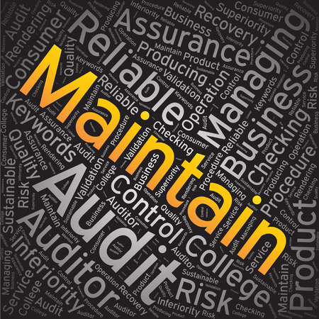 maintain: Maintain ,Word cloud art background Illustration