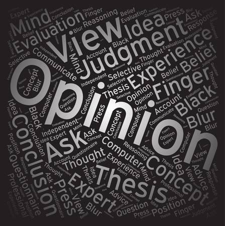 opinion: Opinion ,Word cloud art background