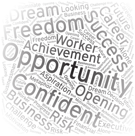 opportunity: Opportunity ,Word cloud art background Illustration