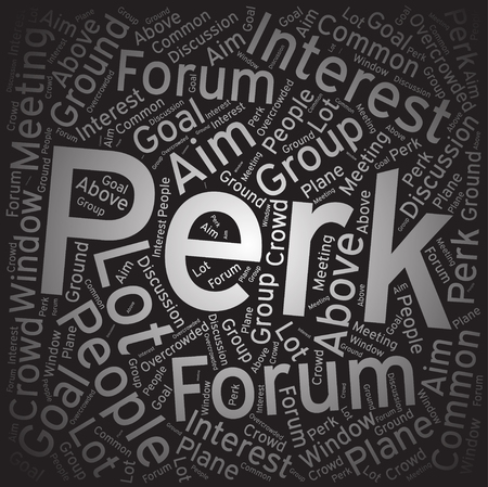 perk: Perk ,Word cloud art background