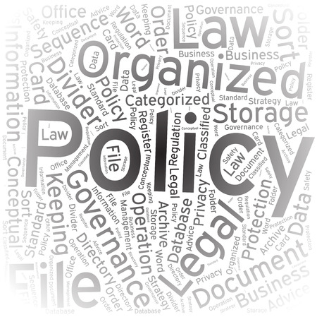 policy: Policy ,Word cloud art background