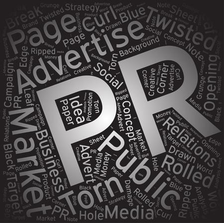 PR ,Word cloud art background Ilustração