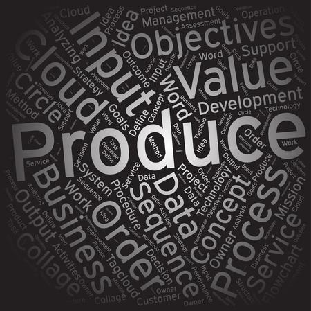 produce: Produce,Word cloud art background