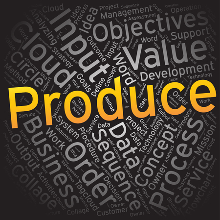 produce: Produce,Word cloud art background