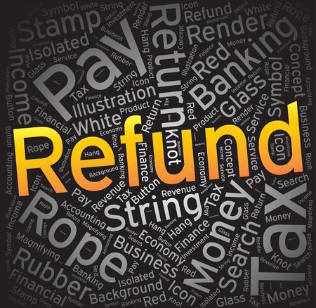 refund: Refund ,Word cloud art background Illustration