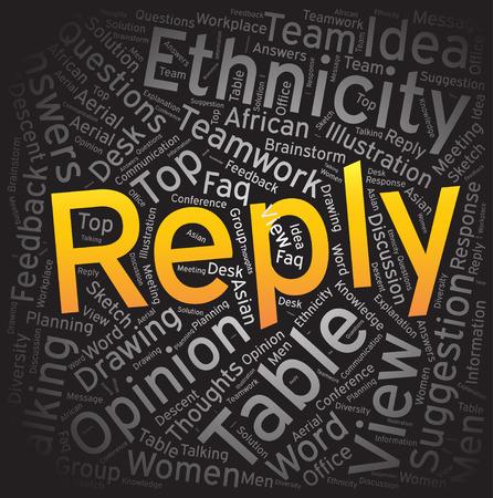 reply: Reply ,Word cloud art background