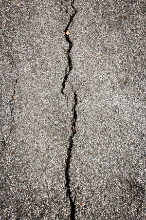 road surface: The road surface is damaged