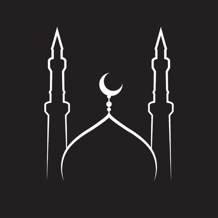 cupola: Mosque Icon Illustration