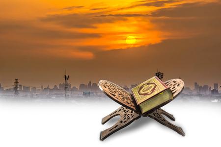 koran: koran with sky sunset