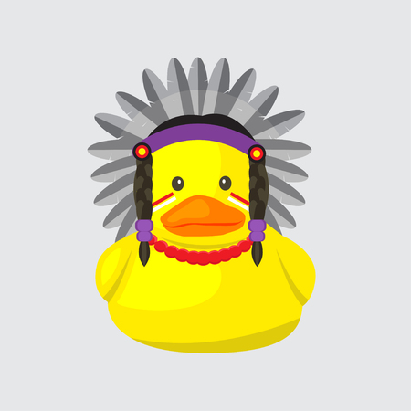 indigenous: bath duck , indigenous people series