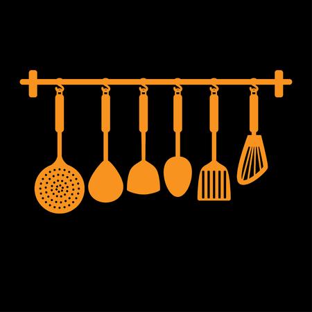 frying: spade of frying pan , vector Illustration