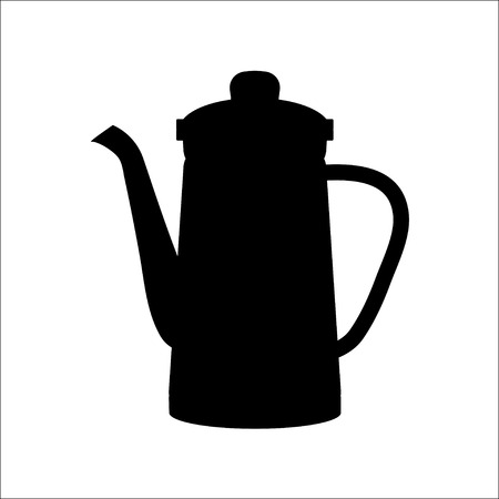 kettles: isolated icon silhouette Kettles,VECTOR Illustration