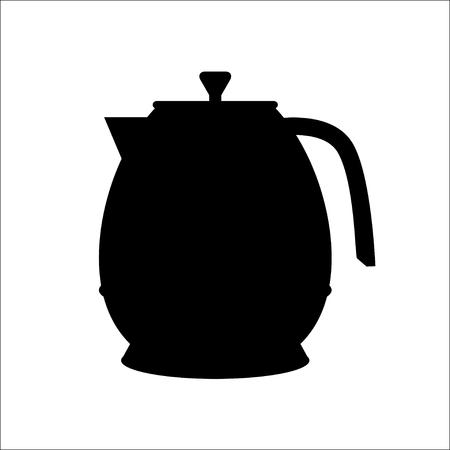 kettles: aislado icono de la silueta hervidoras, VECTOR Vectores