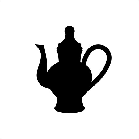 drink tools: isolated icon silhouette Kettles,VECTOR Illustration