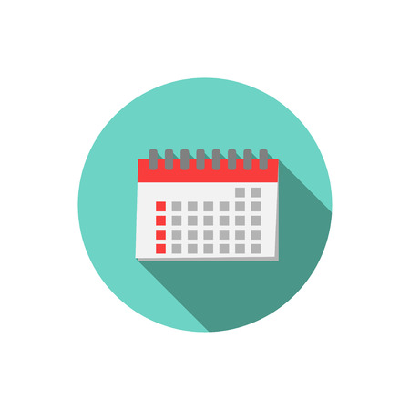 calender icon: Calender in hand ,vector icon