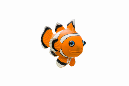 Clownfish   statue on white background