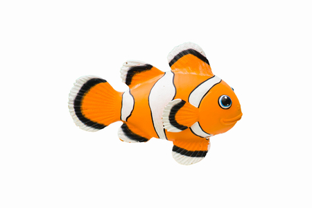 copperband: Clownfish   statue on white background