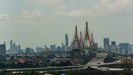bhumibol: Bhumibol Bridge .  Bridge  in Bangkok ,Thailand