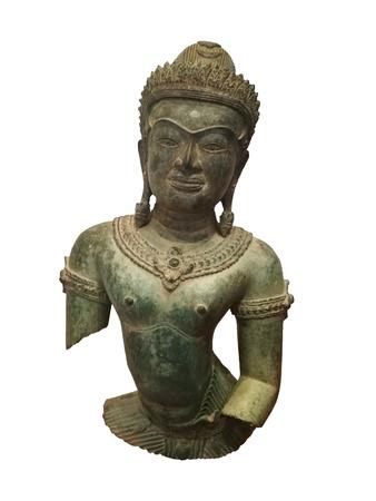 angor: cambodia statue on white background