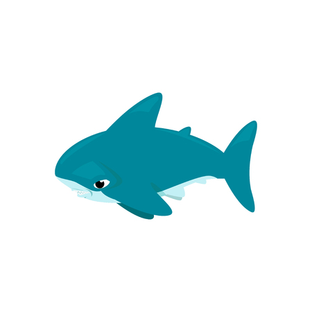 pez martillo: Vector de dibujos animados - tibur�n martillo (Sphyrnidae)