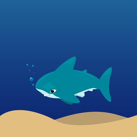 hammerhead shark: Vector cartoon - Hammerhead Shark (Sphyrnidae) Illustration