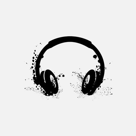 Vector illustration of headphone  or Earphone Headset