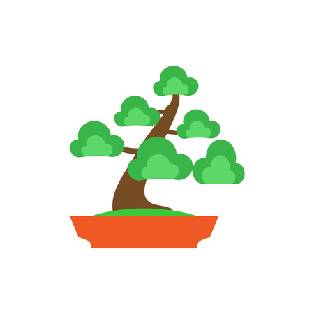 Bonsai Tree on white background ,Vector