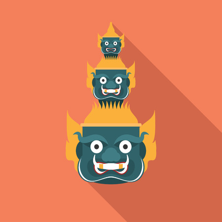 the ramayana: head giant of  Thailand , vector Illustration