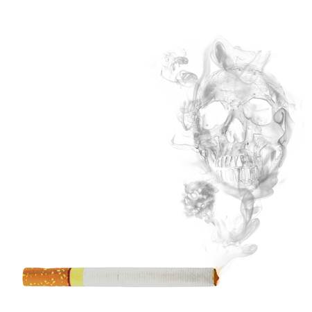 cigarette with  skull smoke effect