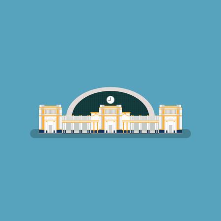 rapid steel: Train station in bangkok Thailand Illustration