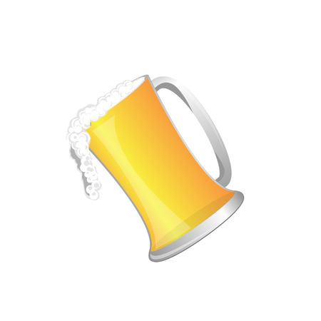 beer glass and beer , Vecter