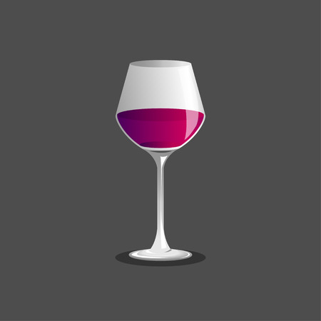 cabernet: wine glass and wine , Vector