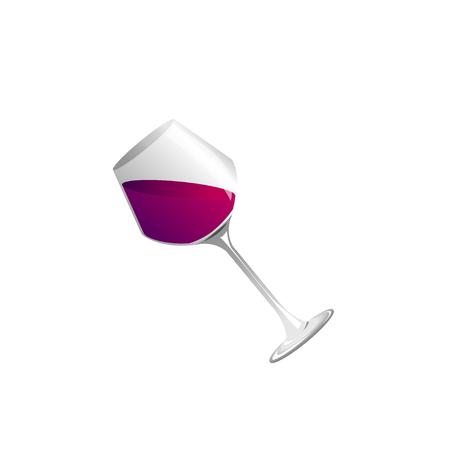 wine glass and wine , Vector