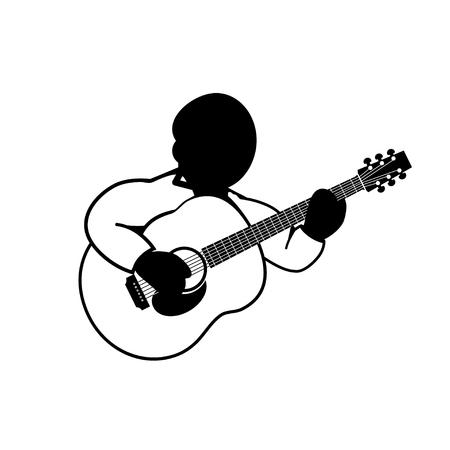 acoustic guitar - vector icon