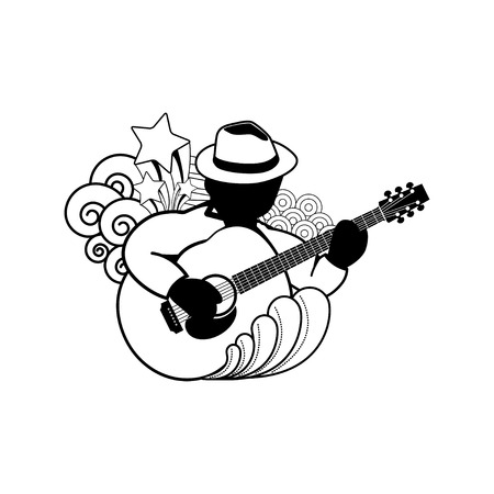 acoustic: acoustic guitar - vector icon