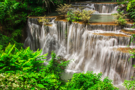 khamin: Huay Mae Khamin, Paradise Waterfall located in deep forest of Thailand.