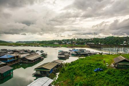 landscape of village in Sangkhlaburi, Kanchanaburi, Thailand.